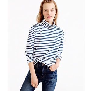 J.Crew Sailor Stripe Funnelneck